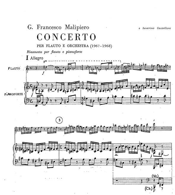 Gian Francesco Malipiero Piano Sheet Music