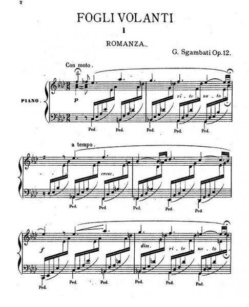 Giovanni Sgambati Piano Sheet Music