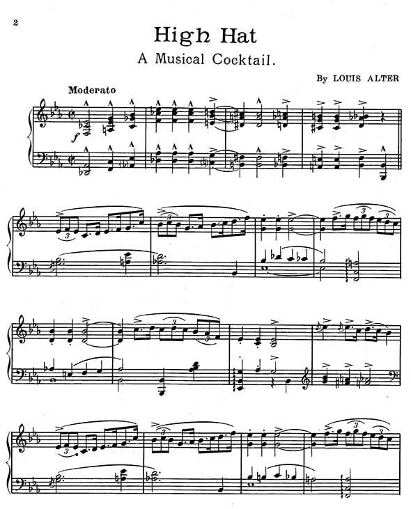 Louis Alter Piano Sheet Music