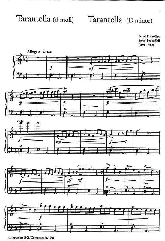 Serge.; violin and piano. Five Pieces from Cinderella sheet music; Prokofieff