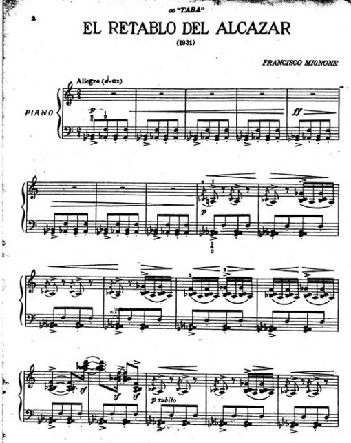Francisco Mignone piano scores