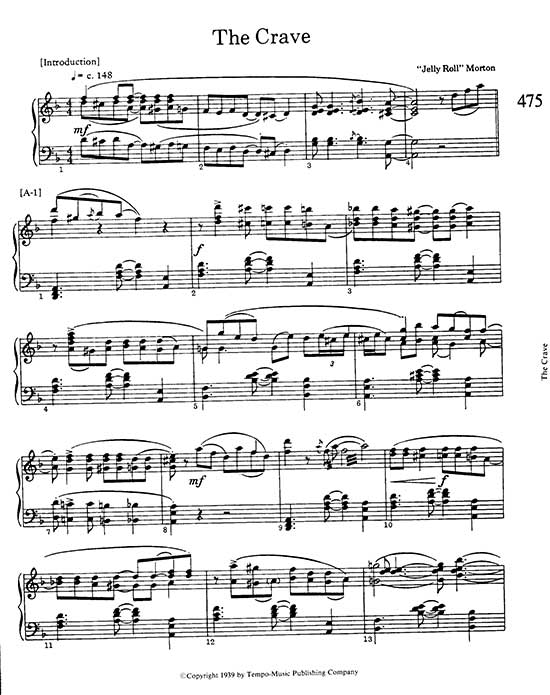Jelly Roll Morton Rag And Jazz Piano Scores