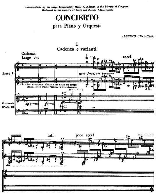 Alberto Ginastera Piano Sheet Music