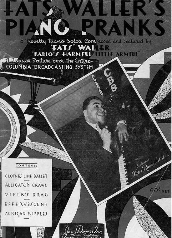 Fats Waller piano sheet music Fats Waller Music