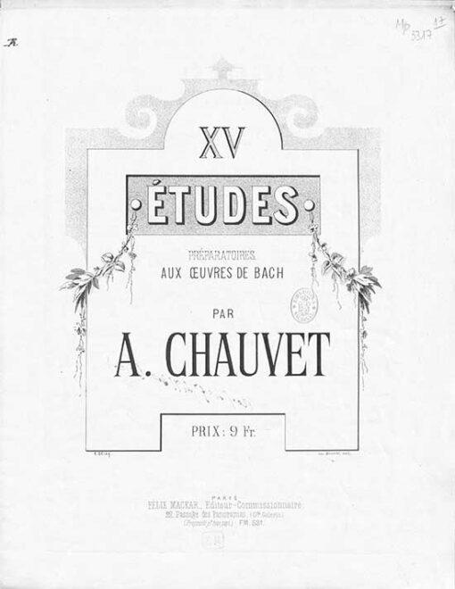 XV Etudes preparatoires aux Oeuvres de Bach rare