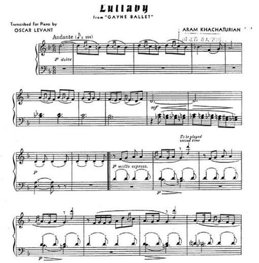 Aram Khachaturian Piano Scores And Transcriptions