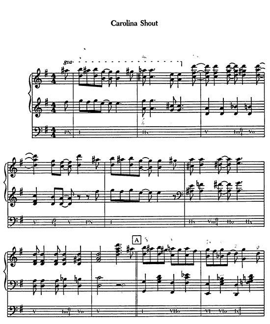 Learning Blues Piano From Music Score: James Johnson April In Harlem Caprice Rag Daintiness Rag