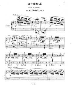 Miguel Fronti Le Tremolo Etude piano sheet music