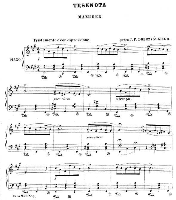 Felix Dobrzynski Piano Sheet Music