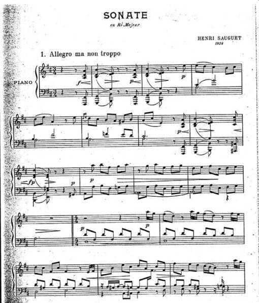 Henri Sauguet Piano Sheet Music