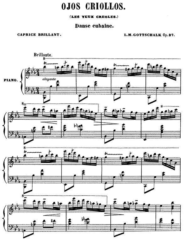 Louis Moreau Gottschalk piano sheet music