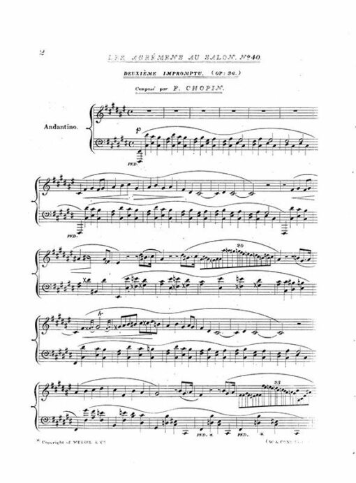 Chopin Impromptu Op.36 London Wessel 1840