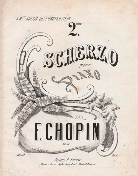 Chopin Scherzo Op.31 Milan Lucca 1839