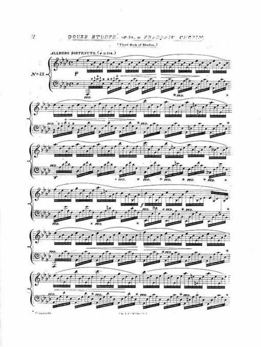 Chopin Twelve Etudes Op.25 London Wessel 1832