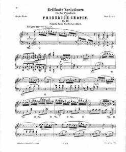 Chopin Variations Op.12 Leipzig reitkopf Härtel 1879