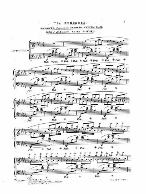 Chopin Berceuse Op.57 London Wessel 1848 Edition