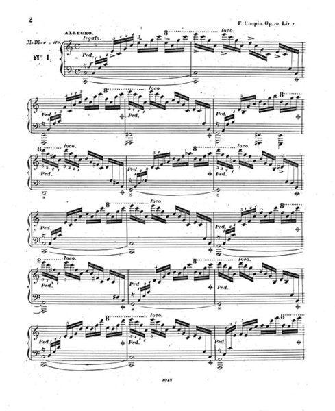 Etudes Op.10 Leipzig Kistner 1833 Edition