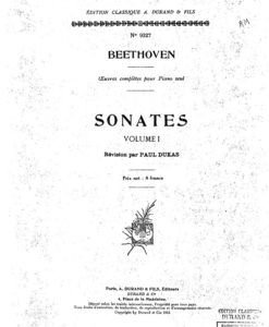 Paul Dukas Beethoven Edition