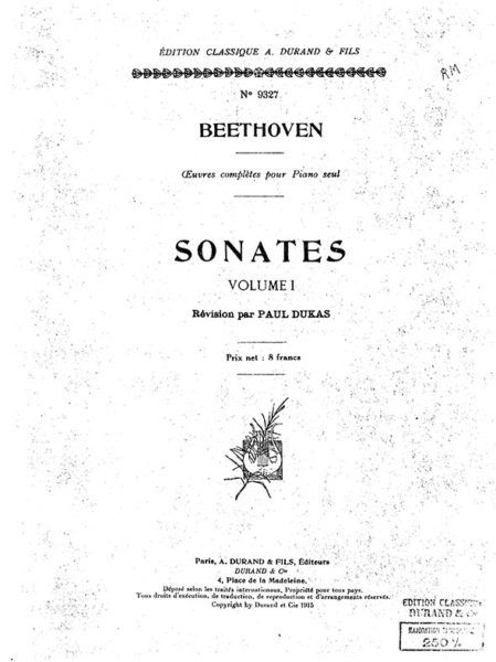 Paul Dukas Beethoven Edition