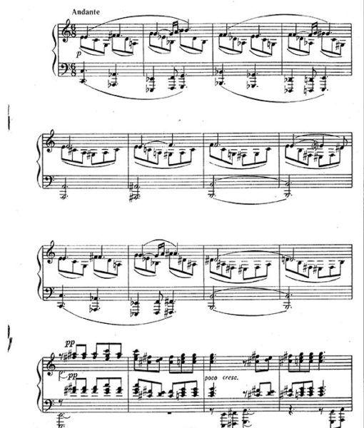 Grigori Shantyr Piano Sonata Sheet Music