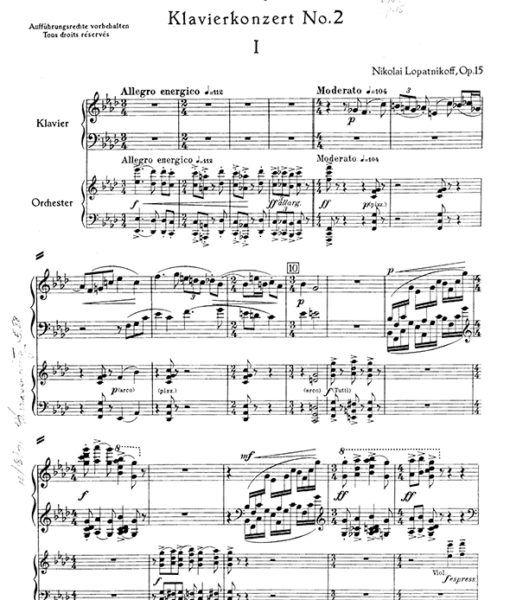 Nikolai Lopatnikoff Piano Concerto Dialoge Kontraste Piano
