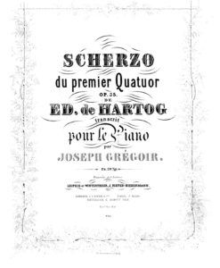 de Hartog - Scherzo du 1ere Quatuor Op.35 arranged by Joseph Grégoir-1