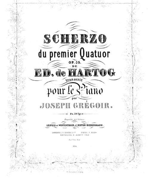 de Hartog – Scherzo du 1ere Quatuor Op.35 arranged by Joseph Grégoir-1