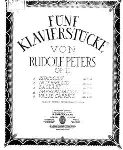 Peters - Funf Klavierstucke Op.11 No.4-1