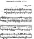 Roussel – Trois Pièces Op.49-1