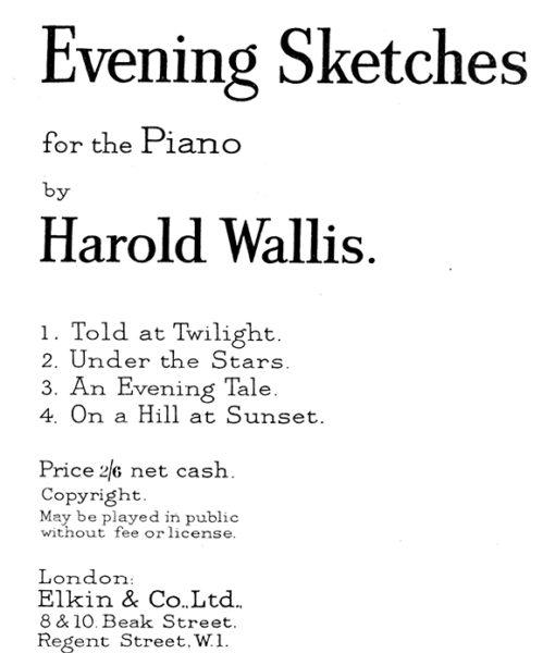 Wallis – Evening Sketches-1