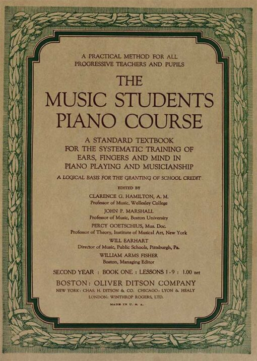 The Music Students Piano Course